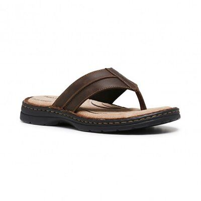 Mens Hush Puppies Leather Thongs Comfort Soft Thongs Cushioned Flip Flop