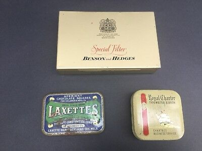 Group Of Three Vintage Tins.