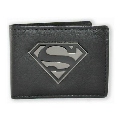 Superman Metal Badge Bi-fold Wallet NEW