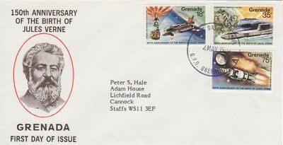 150th Anniversary of the birth of Jules Verne 1979 First Day cover