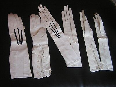 3 Pairs Of 1920S / 30S Kid Leather Gloves All Beautiful &  Unworn