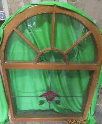 Solid Oak leaded and stained window
