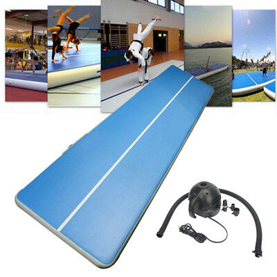 Inflatable GYM Mat Air Floor Tumbling Track Practice Training Pad Set With Pump