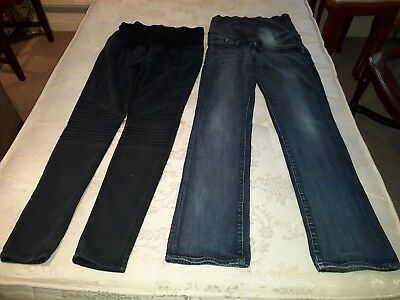 2 pairs H&M 'Over the Bump' maternity skinny Jeans size EUR 40