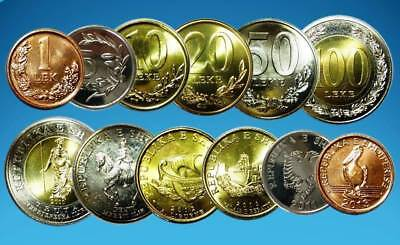ALBANIA 2000 - 2013 SET COIN UNC - Current in Circulation