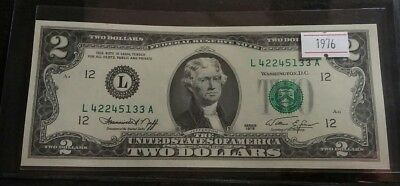 USA 1976 Two Dollar Bill GEM UNC Very Nice High Grade Banknote