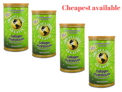 4 x Great Lakes Gelatin Co Collagen Hydrolysate Collagen Joint Care, Beef 454g