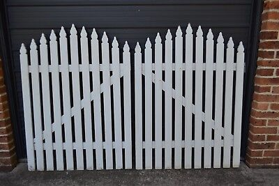 Treated Pine Picket Gates  Garden Landscaping  Renovation Fence