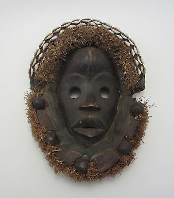African Dan Culture Dance Mask w/ Cowrie Shells and Bells