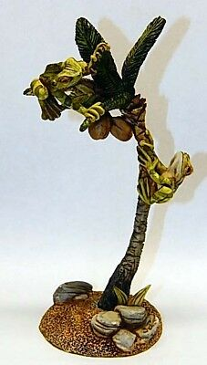 Harmony Kingdom Artst Neil Eyre Designs Island Palm Tree Coconuts Tree Frog LE