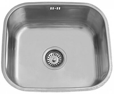 L45A BS Grand Taps Kitchen Sinks Round Undermount Brushed Stainless Steel Bowl