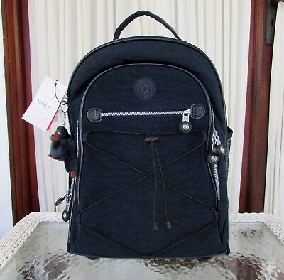 Kipling Sausalito Wheeled Backpack Rolling Luggage Carry On Bag True Blue NWT