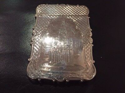 Superb and rare Nathaniel Mills Solid Silver Card Case