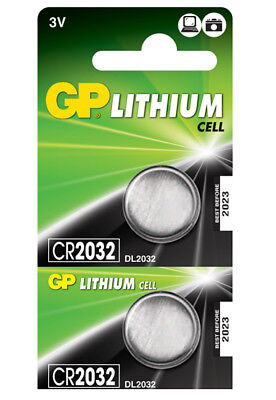 2 x GP Lithium CR2032 DL2032 CR 2032 3V Coin Cell Batteries EXP:2027