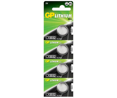 4 x GP Lithium CR2032 DL2032 CR 2032 3V Coin Cell Batteries EXP:2027