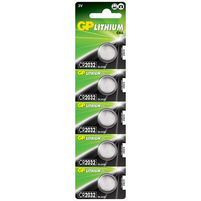5 x GP Lithium CR2032 DL2032 CR 2032 3V Coin Cell Batteries EXP:2027