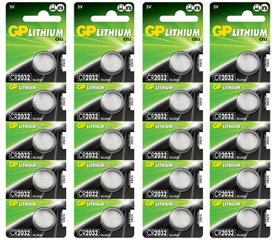 20 x GP Lithium CR2032 DL2032 CR 2032 3V Coin Cell Batteries EXP:2027