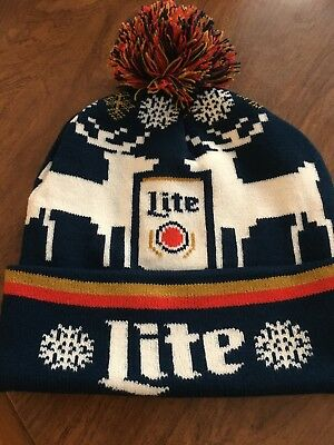 2017 Miller Lite Ugly Sweater Beanie Hat