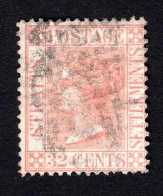 Malacca 1867 32 cents  Mi#18  lot 2 used