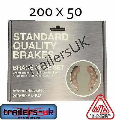 "AL-KO 200x50 brake shoe set for 8"" Alko Hubs  ** FREE Delivery**"