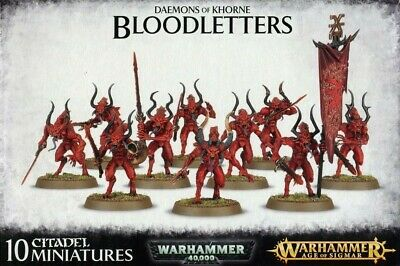 Daemons Of Khorne Bloodletters Games Workshop Warhammer Age of Sigmar Brand New