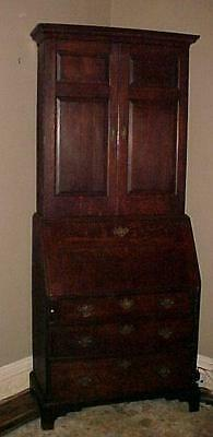 Exceptional Original 18th Century Oak Blind Door Secretary Desk