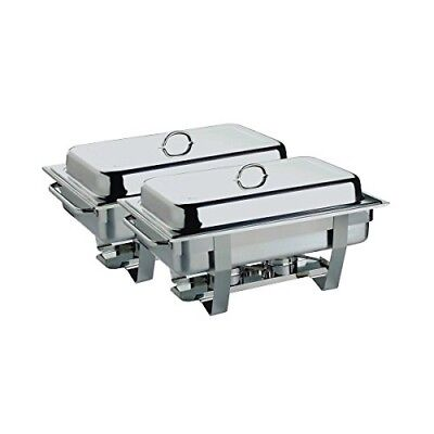 Genware NEV-11389TWIN Economy Chafing Dish, Twin Pack, 1/1