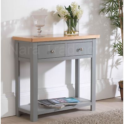 Richmond Console Table Grey Painted Wooden Hallway Furniture