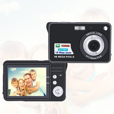 AmYin Mini Digital Camera 18 Megapixel with 2.7'' LCD Display (Black)