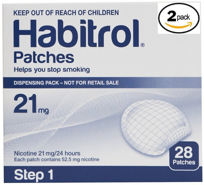 Novartis Habitrol 21mg Nicotine Patches, Step 1. Stop Smoking. 2 boxes of 28 eac