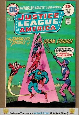 Justice League of America #120 (8.0-8.5) VF+ Adam Strange App 1975 Bronze Age