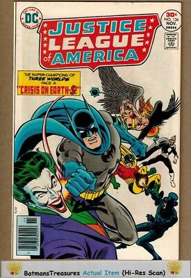 Justice League of America #136 (9.0) VF/NM Joker App 1976 Bronze Age Key Issue