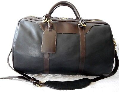 cd0e5abaecee MULHOLLAND BROTHERS CANVAS   Leather Duffle Bag -  259.99