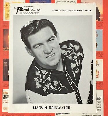 authentic Marvin Rainwater press photo from Mpls Flame Cafe