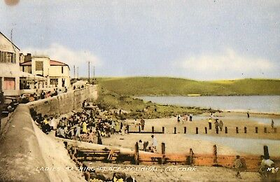 Ladies Bathing Place Youghal Co Cork Ireland Postcard H Rosehill Posted 1957