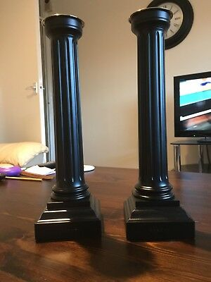 Pair Of David Linley Column Candlesticks