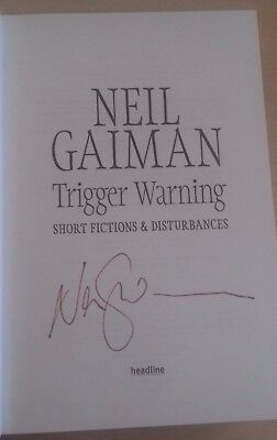 Trigger Warning Neil Gaiman Signed Hardback Copies