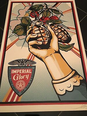 Obey the Giant Imperial Glory Lithographie Signiert