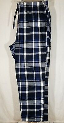 5df29835bc Old Navy Men XXL Blue Plaid Heavy Flannel Pajama Sleep Lounge Pants Bottoms  Cttn