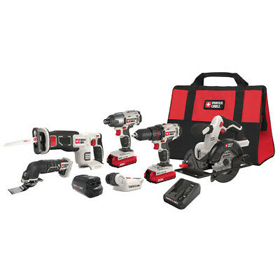 NEW PORTER-CABLE 6-Tool 20-Volt Max Lithium Ion (Li-ion) Cordless Combo Kit