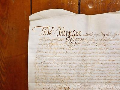 1672 Stearsby Brandsby Yorkshire 17th century Vellum Deed Indenture nice seal