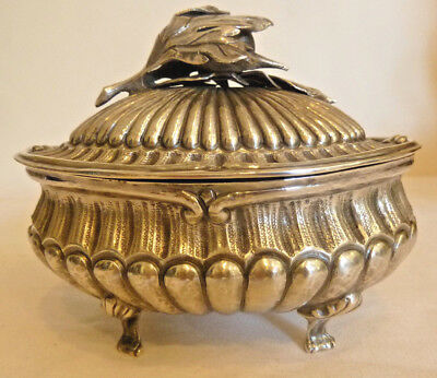 20th Century Italian Sterling Silver Footed Bowl with Lid