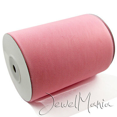 """Wholesale Job Lot 50 Baby Pink Rolls Tutu Tulle Fabric 6"""" Wide x 100 Yards"""