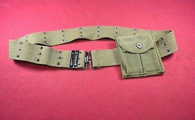 Vintage US Military Canvas Belt and Ammo Pack M1 Carbine Pouch