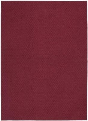 Garland Rug Town Square Area Rug, 5-Feet by 7-Feet, Chili Red