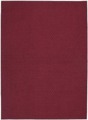 Garland Rug Town Square Area Rug, 7-Feet 6-Inch by 9-Feet 6-Inch, Chili Red