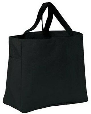 Black Canvas Tote Bag Heavy Duty By Port Authority Factory Seconds