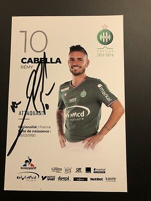 Orig sign AK Remy Cabella - AS Saint-Etienne 2018