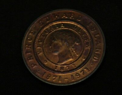Medal 1871 1971 Prince Edward Island One Cent commemorative