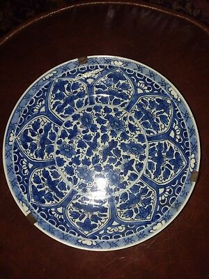 Pair of Blue and white oriental plates